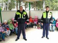 Проведение занятий с детьми по ПДД в рамках недели по охране труда
